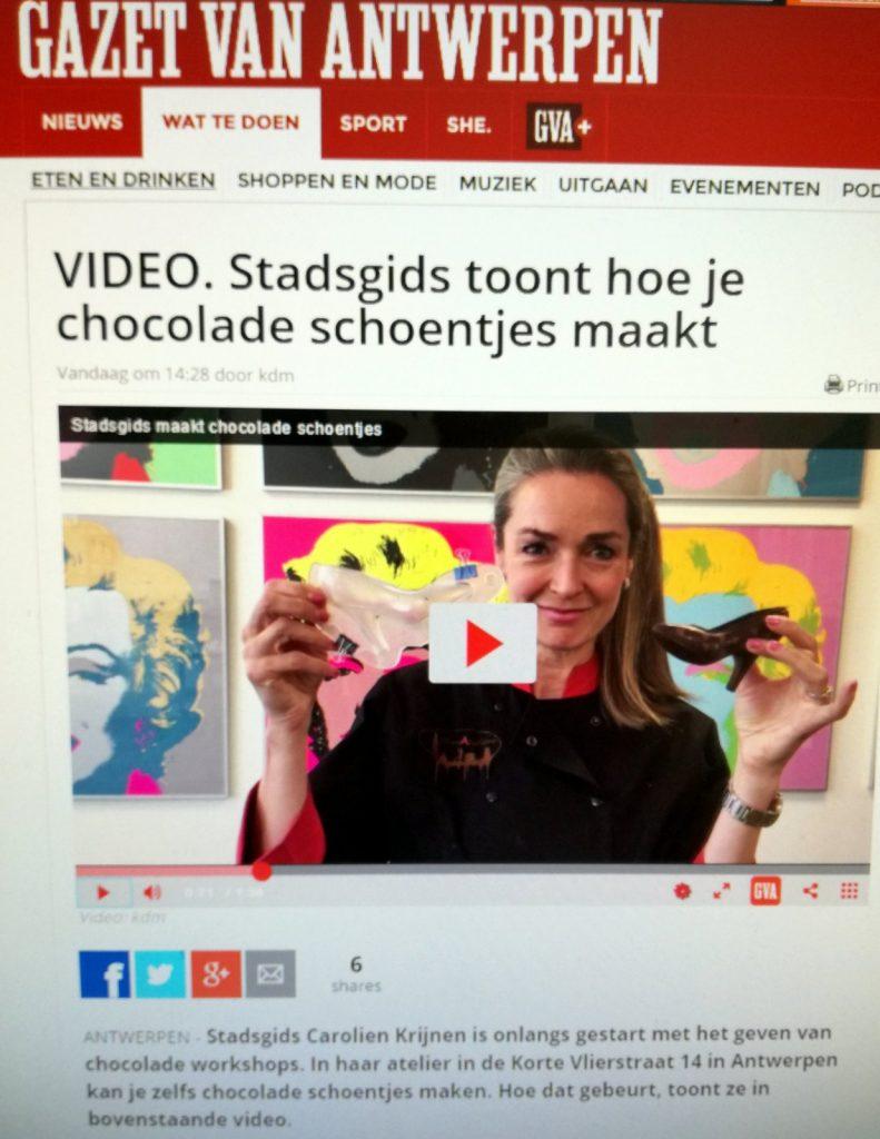 Chocoladeworkshop bij Chocalicious Antwerpen