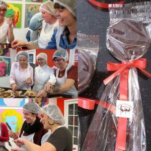 Lange Wapper chocoladeworkshop bij Chocalisious